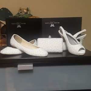 Pearl Shoe Set with clutch